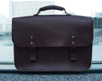 Brown Leather, Bag Leather,mens briefcase, leather satchel, leather briefcase