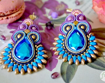 "Handmade Soutache Earrings - ""A Mermaid's Dream"""