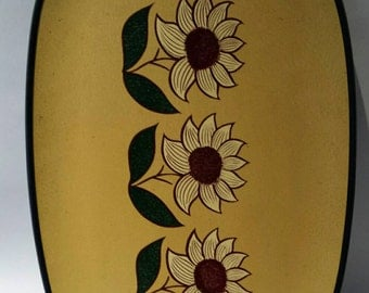 Vintage flower serving tray
