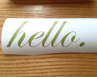 Hello. door sticker.