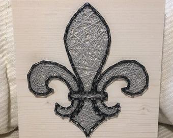 CUSTOM Fleur de Lis String Art, Flower, Iris, Lily, France, French, Wall Hanging, Handmade