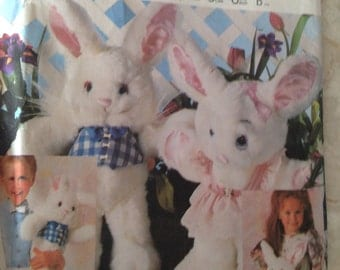 McCalls 2396 Craft Soft Boy Girl Bunny Doll Pattern