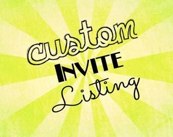 100% Custom Invite