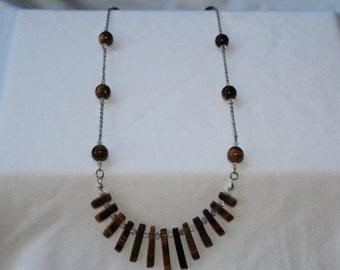 Tigers Eye Fan Necklace