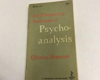 Psycho-Analysis by Charles Brenner Vintage Book