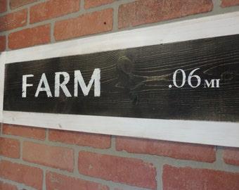Rustic farm sign