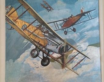 Framed Airplane Prints.