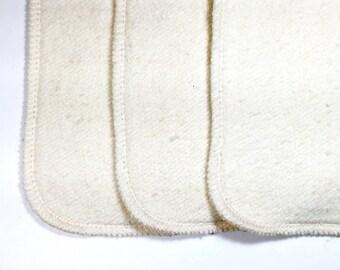 24 Organic hemp cotton fleece 2 layer inserts - super absorbent!