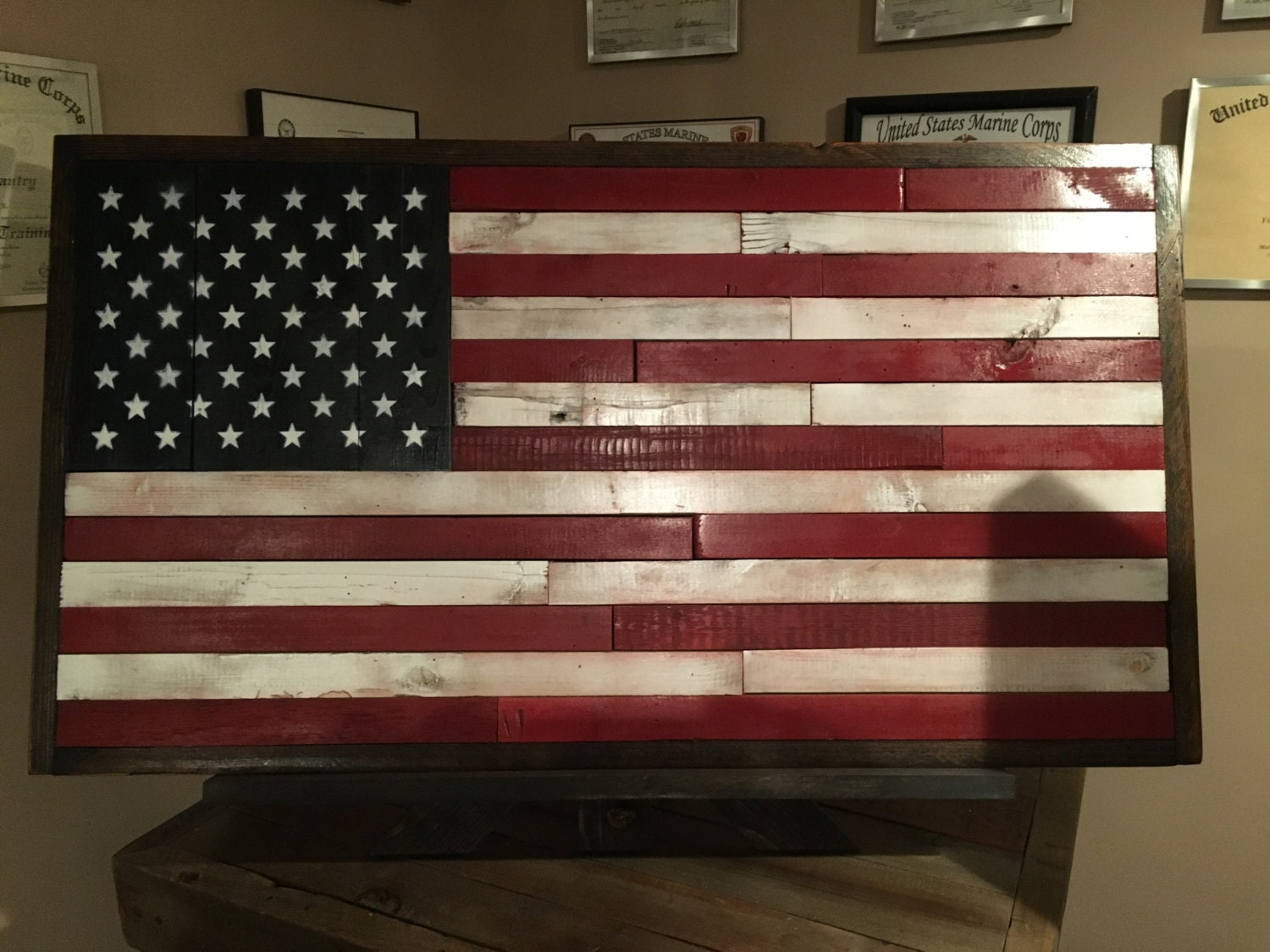 American flag american flag rustic decor reclaimed wood for American flag decoration
