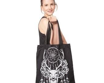 Cotton Canvas Dream Catcher Tote Bag