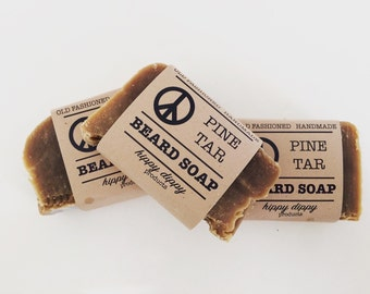 organic pine tar beard soap