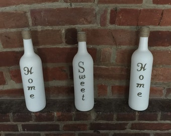 Bottle lamps set of three