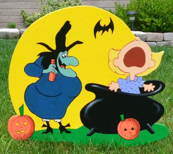 Sally Peanuts Halloween Decor by LawnArtDeco