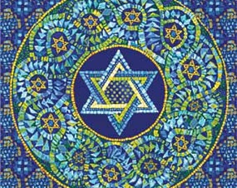 Passover Paper Napkins with Mosaic Jewish Star - for Decoupage, Parties - Passover Paper Goods