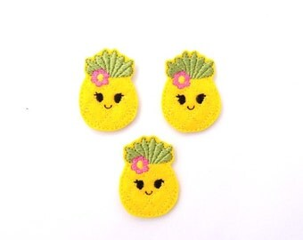 Pineapple feltie - Pineapple Felt- Pineaple felt bow - Yellow pineapple feltie - Pineapple hair bow - Pineapple headband