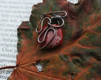 Brunt Pendant, wire, copper, LARP