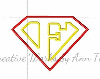 I Am Super Letter F Alphabet Applique
