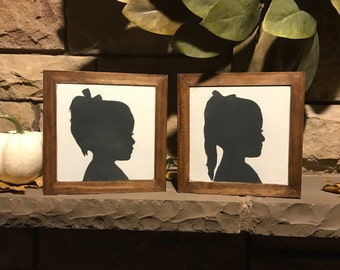 Custom Made Silhouette Aproximatly 8x8