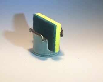 Handmade Colorful Stoneware Kitchen Sponge Holder - Pottery Sponge Caddy - Sponge Cup - Sink Sponge Holder