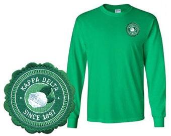 Kappa Delta Patch Seal Long Sleeve T-Shirt