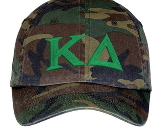 Kappa Delta Lettered Camouflage Hat