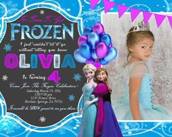 Frozen Birthday Invitation