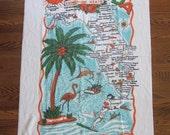 Vintage Florida Beach Towel, Novelty Beach Towel, Vintage Florida Novelty, Vintage Florida Kitsch