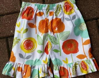 Girls shorts, Ruffle, shorts, girls clothing,