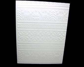 Nordic Sweater Style Embossed Blank Note Cards, Embossed Blank Cards, Embossed Blank Greeting Cards Set of 12 (Nordic 1)