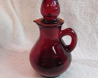 Vintage Avon Ruby Red Cruet