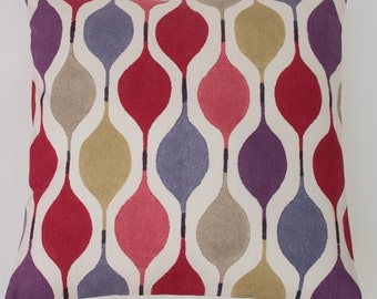 "Retro Bright Red Pink Purple Lilac Ivory Decorative Home Decor 16"" / 40cm Cushion Cover"