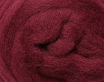 Raspberry Corriedale Wool Roving One Ounce for Felting and Spinning