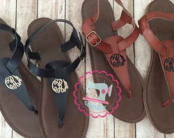 Monogrammed Sandals, personalized sandals,mothers day gift, summer sandals, bridesmaids gifts