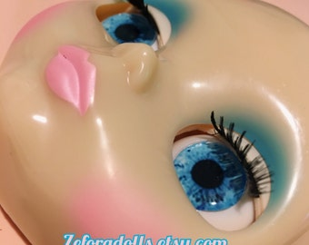 Realistic Deep Blue Soft Resin Eye Chips For Blythe (14 mm)