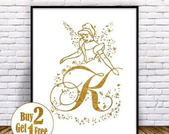 SALE: Letter K Print, Letter poster, Letter Art print, Letter Decor, Painting, Letter Wall Art, Letter Wall decor, Gold Art print 5