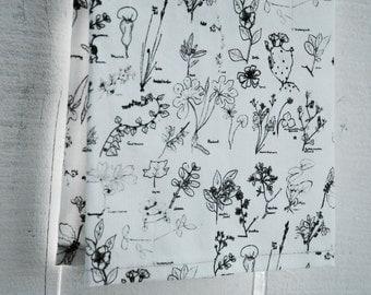 MOTHER'S DAY GIFTS, Linen Tea Towel - Botanical Sketch