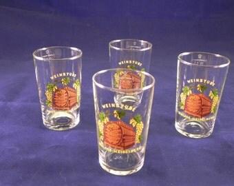 Lot of 4 Vintage Heidelberg, Germany Wine/Juice Glasses