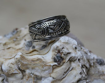 Viking Dragon Ring sterling silver