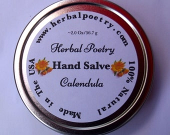 100% Natural Calendula Hand Salve