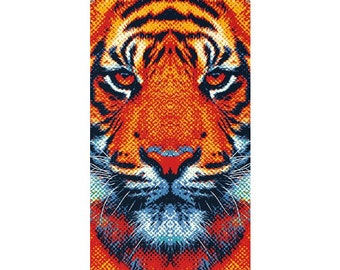 Tiger Rug - Colorful Animals