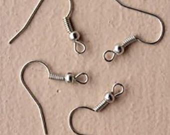 10 Pairs of Fish Hook Earrings