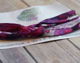 Sailor knot headband, one size fits most, sailor knot, childrens headband, adult headband, adjustable, willowthreadsmn