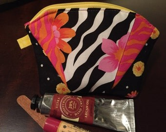 Quilted Bag - Floral and Striped