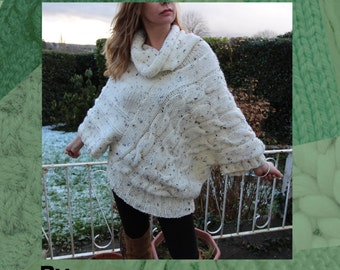 Snow Sweater Hand Knitting Pattern