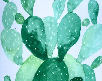 Green Cactus Print 1