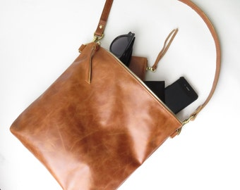 Leather Crossbody Bag, Leather purse, brown leather bag