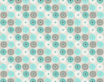 Isabella Collection - Lt. Gray Flowers All Over Fabric by Cynthia Coulter for Wilmington Prints - Sold by the Half Yard