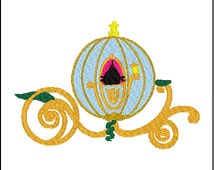 Cinderella Carriage Coach Embroidery Design