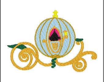 Cinderella Carriage Coach Embroidery Design