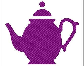 Teapot Embroidery Design